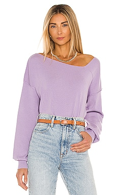 Favorite Off Shoulder Sweater Line & Dot $86