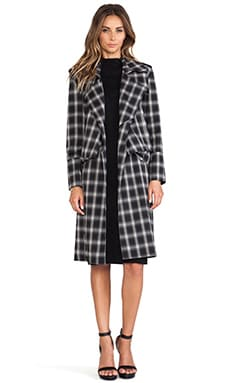 Line & Dot Keaton Trench Coat in Cobain Plaid