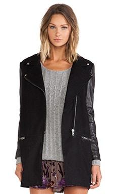 Line & Dot Pearl Jam Moto Jacket in Black