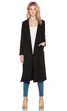 Line & Dot Lust Trench Coat in Black