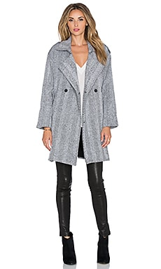 Line & Dot Jean Luc Overcoat in Grey