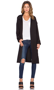 Line & Dot Amour Trench Coat in Black