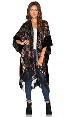 Line & Dot Fleur Kimono in Jewel Tone