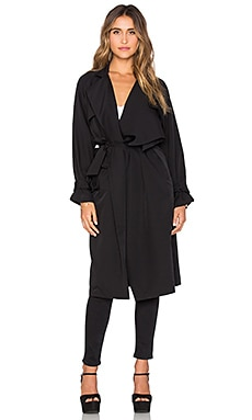 Line & Dot Yves Trench Coat in Black