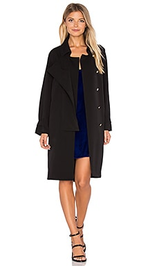 Cecil Button Coat in Black