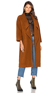 Wren Maxi Coat in Whiskey