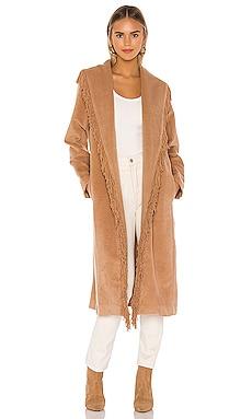 Linda Fringe Coat Line & Dot $189