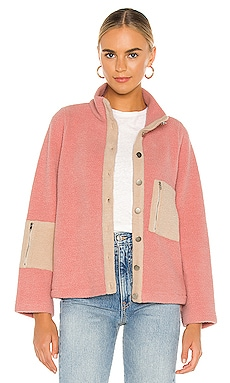 Callie Contrast Fleece Jacket Line & Dot $120