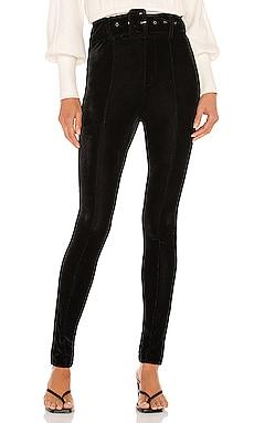 Kris Velvet Belted Pant Line & Dot $46