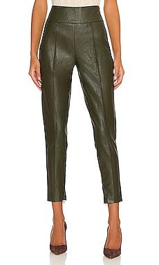 Kiara Faux Leather Pant Line & Dot $102 NEW