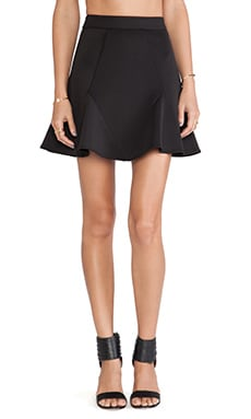 Line & Dot Jolie Flare Skirt in Black
