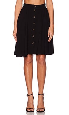 Line & Dot Jackson Button Skirt in Black