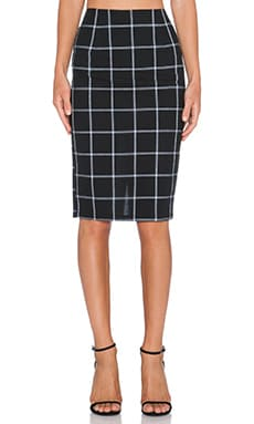 Line & Dot Bisous Midi Skirt in Black