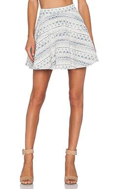 Line & Dot Saint Germain Skirt in Multi Blue