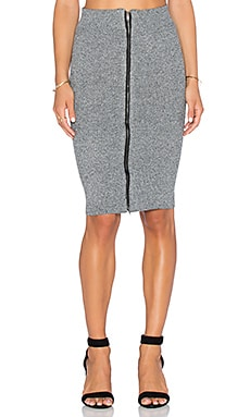 Line & Dot Champs-Elyesees Skirt in Charcoal