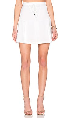 Line & Dot Rhone Lace Up Skirt in White