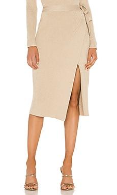Alyssa Sweater Set Wrap Skirt Line & Dot $83