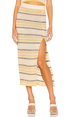 Summer Nights Sweater Skirt Line & Dot $52