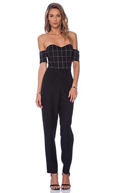 Line & Dot Christy Sweetheart Jumpsuit in Bankers Plaid