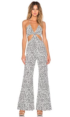 Line & Dot Disco Jumpsuit in Cookie Cream
