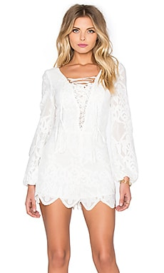Lulu Lace Romper in White