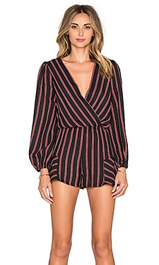 Line & Dot Annabelle Romper in Black & Cherry