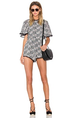 Line & Dot Yoko Romper in Blackberry