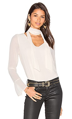 Rima Scarf Blouse in Cream
