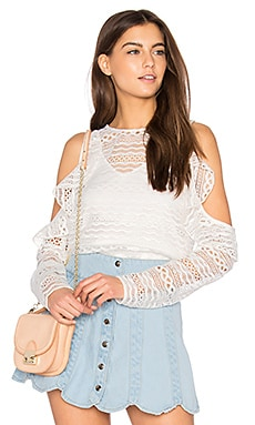 Daiguiri Cold Shoulder Top in White