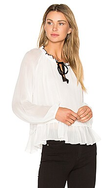 Tikk Peasant Top in White