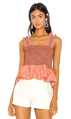 Zoe Smocked Top Line & Dot $78 BEST SELLER
