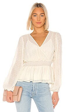 Kate Chiffon Overlay Top Line & Dot $92 NEW ARRIVAL