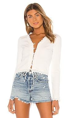 Arcadia Lace Trim Top Line & Dot $81