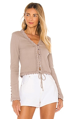 Arcadia Lace Trim Top Line & Dot $81