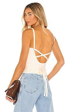 Megan Wrap Sweater Top Line & Dot $64