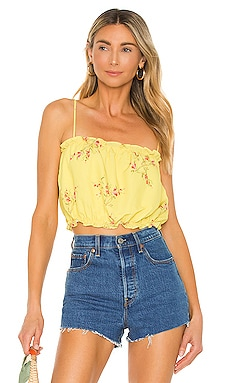 Hailey Floral Print Tank Top Line & Dot $61 NEW