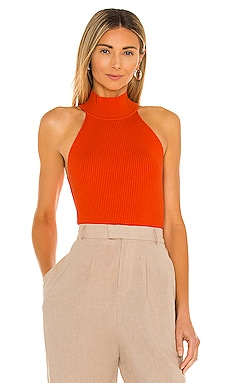 X REVOLVE Danielle Rib Knit Top Line & Dot $84