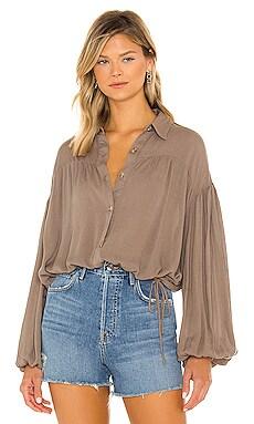 Farrah Long Sleeve Button Up Line & Dot $83 BEST SELLER