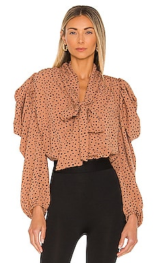 Hazel Polka Dot Blouse Line & Dot $90 NEW