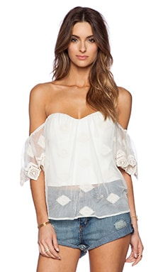 Line & Dot Jean-Michel Flutter Top in Cream