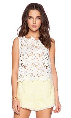 Line & Dot Femme Tank Top in White