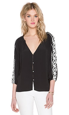 Line & Dot Parisienne Blouse in Black