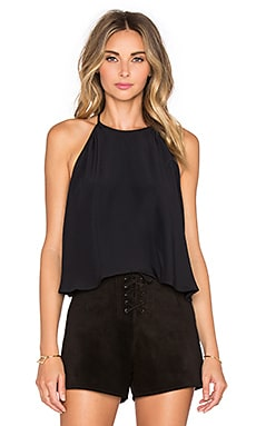 Line & Dot Lucienne Halter Top in Black