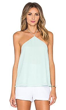Line & Dot Riviera Halter Top in Mint