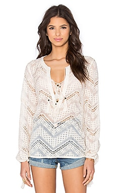 Lyon Lace Blouse in Cream
