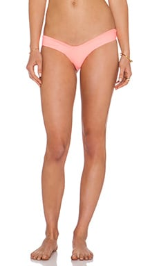 LEE + LANI The Maui Bikini Bottom in Coral