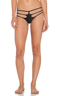 LEE + LANI The Bondi Bikini Bottom in Black