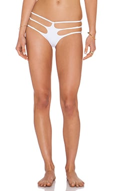 LEE + LANI The Bondi Bikini Bottom in White