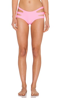 LEE + LANI The Rio Bikini Bottom in Tropical Pink