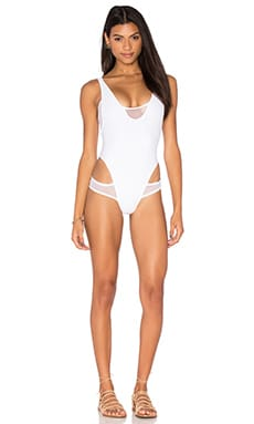 LEE + LANI x REVOLVE The Cindy Mesh Insert One Piece in White